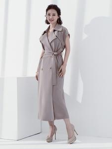 日播女装日播女装浅灰色长款风衣