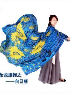 汝拉女装向日葵围巾