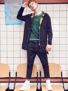 X-GTM男装黑色休闲夹克
