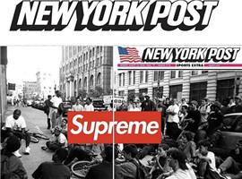 纸媒因此翻身?Supreme首登美国纽约邮报