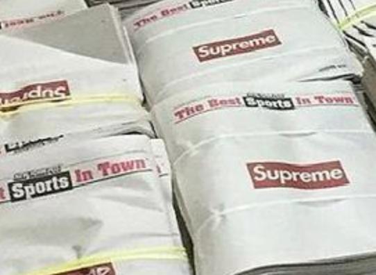 新品营销有方 Supreme联手《纽约邮报》出报纸