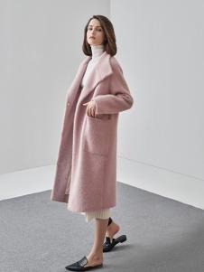 爱未陌生女装粉色休闲大衣