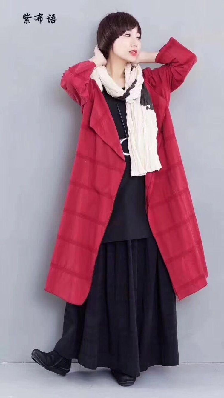 原创设计师品牌紫布语棉麻系列女装一手货源