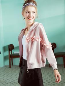 18夺宝奇兵品牌折扣粉色甜美卫衣