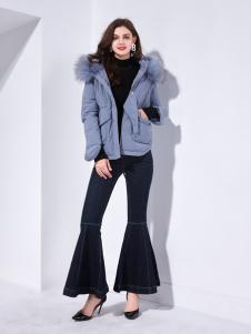 艾丽哲秋冬新款中长款加厚修身显瘦收腰外套潮
