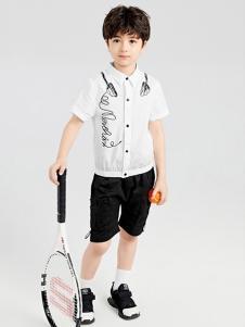 gxgkids童装白色字母衬衫