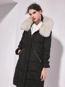 艾丽哲秋冬新款韩版宽松中长款羽绒服