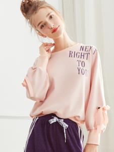 2018夺宝奇兵女装粉色卫衣