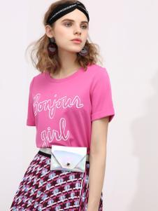2018betu百图粉色T恤