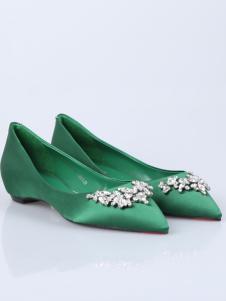 迪欧摩尼18绿色优雅舒适女鞋