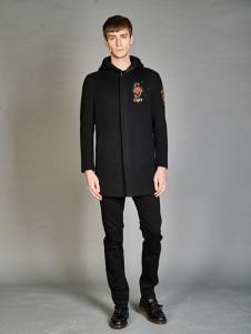 BELMAR男装黑色刺绣夹克