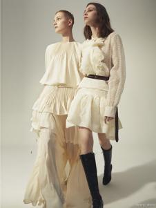 依然浪漫女装白色甜美连衣裙