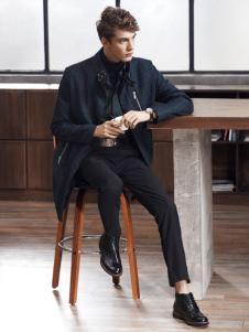 迪欧摩尼2018新款黑色商务休闲鞋