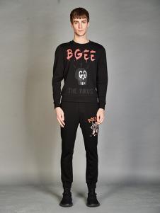 BELMAR男装黑色字母上衣