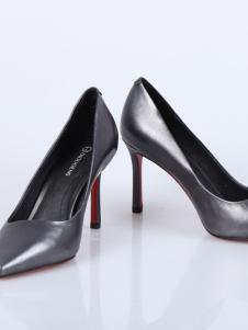 迪欧摩尼18银灰色浅口高跟鞋