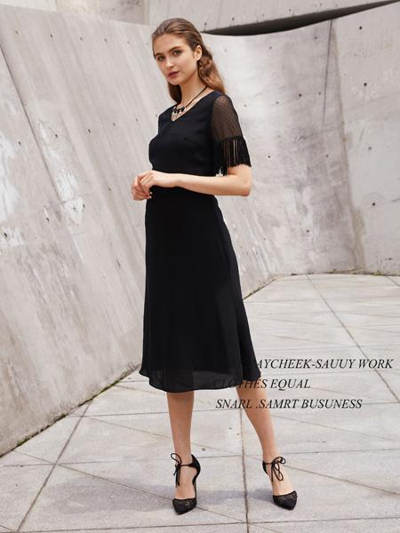 2018迪奥女装黑色连衣裙