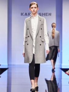 KAREN SHEN无袖大衣