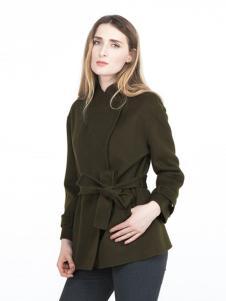 蔓瑞兰熙女装绿色短款大衣