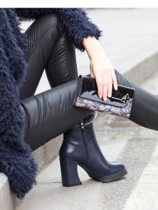 2018迪欧摩尼黑色优雅女鞋