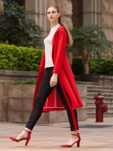 2018迪奥女装气质红色风衣