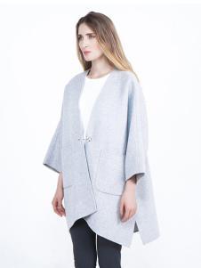 蔓瑞兰熙女装浅灰色时尚大衣