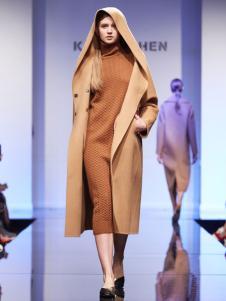 KAREN SHEN带帽大衣