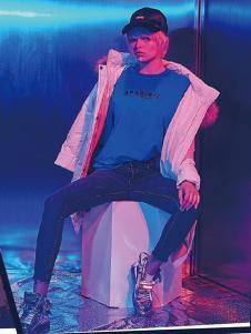 艾普玛男装白色时尚休闲外套