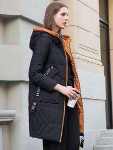 阿莱贝琳黑色羽绒服