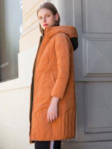 阿莱贝琳棕色羽绒服