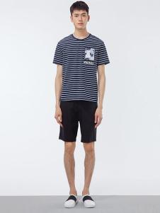 OPN男装蓝色条纹T恤