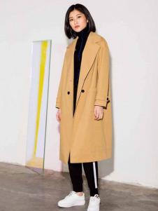 MDC女装黄色休闲大衣