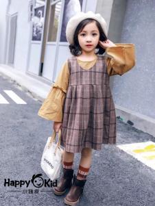 小嗨皮童装女童韩版套装裙