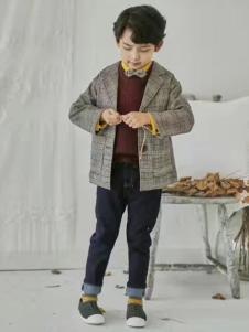 小嗨皮童装男童格子外套
