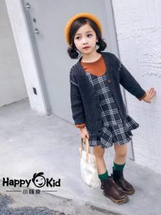 小嗨皮童装女童针织外套