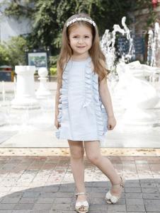 可爱贝比童装浅蓝色时尚女裙
