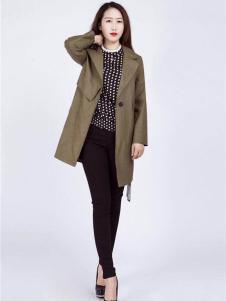 2018阿莱贝琳军绿色外套