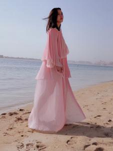 SIRAN女装粉色甜美连衣裙