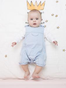 原真童裝藍色短袖嬰幼裝