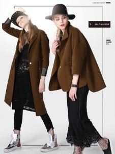 A ONE SELF女装棕色短款大衣