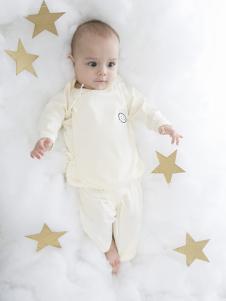 原真童裝米白色長袖嬰幼裝