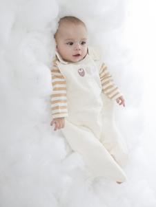 原真童裝白色印花嬰幼裝