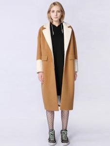 A ONE SELF女装卡其长款大衣