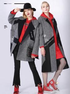A ONE SELF女装灰色时尚大衣