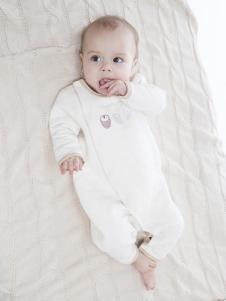 原真童裝白色連體嬰幼裝