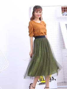 寂索新款纯色网纱裙