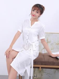 寂索新款白色衬衫裙
