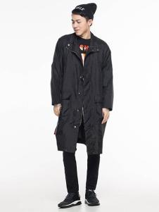 ERICCHANG男装黑色长款休闲外套