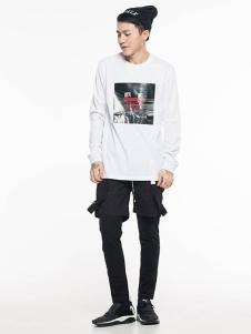 ERICCHANG男装白色印花T恤