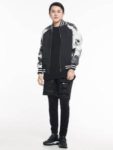 ERICCHANG男装黑色印花外套