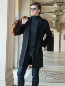 2018袋鼠男装英伦范大衣